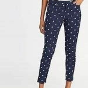 Old Navy Polka Dot Pixie Slim Legs Pants Size 10